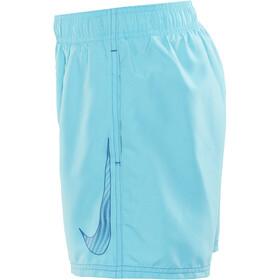 """Nike Swim Big Swoosh Logo Volley Shorts Boys 4"""" Chlorine Blue"""